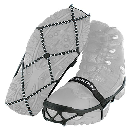 Yaktrax Pro Traction Cleats for Walking Jogging or Hiking on Snow and Ice 1 Pair Small  Black