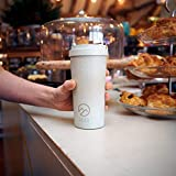 Hills & Valleys | Reusable Coffee Cups | Eco Travel Mug with Lanyard | Made with Rice Husks | Double Walled Insulation | Easy Handling | On The Go - Take Away Mugs | 100% Recyclable - 450ml