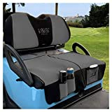 10L0L Golf Cart Seat Cover Blanket Sets with Storage Bags Fit for Club Car DS Precedent & Yamaha, Warm Bench Seat Blanket + Back-up Cover Washable Polyester Mesh Cloth Gray Black Red - Large