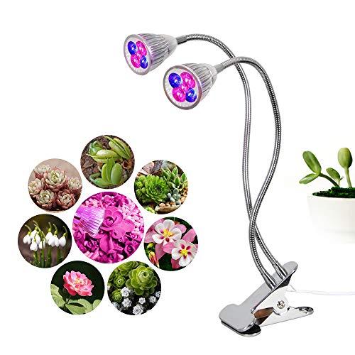Full Spectrum Usine Lumière LED Lumière De Croissance des Plantes 10W Desktop Clip Phyto Lampes, 360 ° Gooseneck Lumière De Remplissage pour L'usine Boîte À Fleurs Croissance