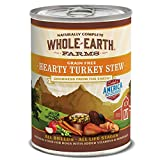 Whole Earth Farms Grain Free All Breed All Life Stages Wet Dog Food Hearty Turkey Stew (12) 12.7 oz Cans