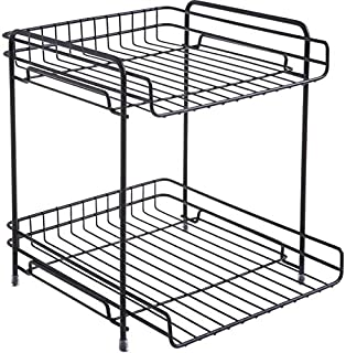 SuperShuku多機能卓上収納ラック ファイルラック A4ファイルラック/新聞 雑誌ラック/机上 寝室 収納整理 浴室 収納ラック。 (黑色)