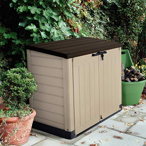 Store-It-Out Max 5 ft. W x 3 ft. D Plastic Horizontal Garbage Shed