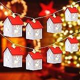 Cadena de luz decorativa árbol de Navidad luces casa de madera 5M 32LED decoración de la lámpara de la cadena de luces de hadas con pilas de la noche de la lámpara de la luz de la noche adornos (1)