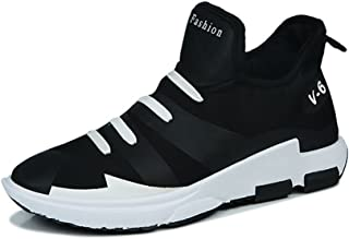 Shoes スニーカー 男性 アスレチック 靴 カジュアル 個性 耐摩耗性 スポーツ シューズ Comfortable (Color : ブラック, サイズ : 25 CM)