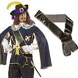 Espada Pirata con Banda de Cuero-óptica para Espada Mosquetero gnaulm compuesta de Armas de la Edad Media la Espada Pirata gnaulm Correa cinturón Accesorios Carnaval Accesorios de Vestuario