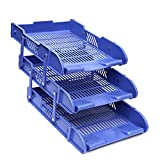Isel Multi Usable for Office and Lab 3 Tier Foldable Tray Desk Storage Organizer File Tray Rack, Office Files, Letter Tray, for Home Study Room, Office, Stationery (Good Condition)