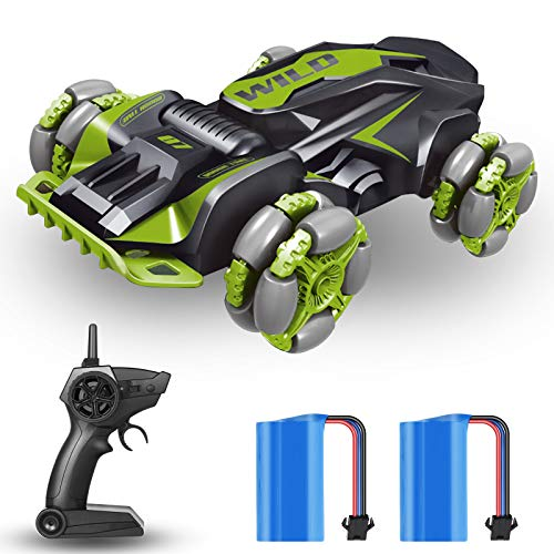 RC Car Remote Control Car Large Stunt Drift RC Cars 360° Rotating 4WD Drift Toys High Speed with 2 Rechargeable Batteries Mini Vehicles Toys Gift for Kids Children Adults