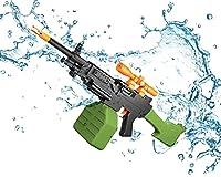 電気水銃強力な長い距離9-12m、ゴーグルやその他の道具を装備した大人のスーパーパワーのための電気水銃、子供の怪我を避けるために保護ゴーグルを着用してください。 (Color : Assault)