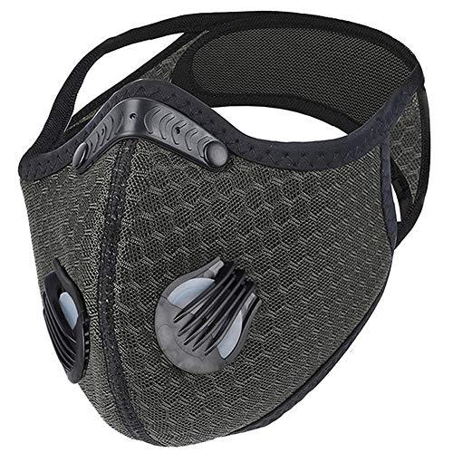Dulzod Dust Masks Outdoor Sport Mask Reusable Face Masks Dust Masks Veil Reusable Carbon Activated Filters Black Cloth Face Mask Carbon Filter Face Mask