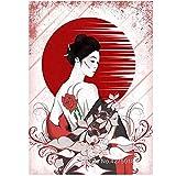 Diy pintura de diamante de baile japonés rosa chica diamante bordado punto de cruz redondo diamante mosaico kit decoración, sin marco-20X25cm
