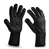 Comfortable To The Touch <span class='highlight'>BBQ</span> <span class='highlight'>Gloves</span> <span class='highlight'>932</span><span class='highlight'>°F</span> <span class='highlight'>Extreme</span> <span class='highlight'>Heat</span> <span class='highlight'>Resistant</span> Oven <span class='highlight'>Gloves</span> For Cooking, <span class='highlight'>Grilling</span>, Baking - Extra Long Cuff(Black) Suitable For A Variety of Occasions ( Color : Black and Red )