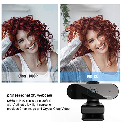 SUNKONG 1080P HD Webcam con micrófono, ordenador externo USB para PC, portátil, Mac, vídeo, conferencias, Skype, Xbox One, YouTube, OBS miniatura