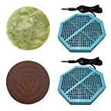 Cell Spa 2 Pack CS-900 Twice Powerful 6.5' x 5.5' Ion Detox Foot Bath Arrays With 2' Round Jade & 2' Round Ceramic Stone Powerful Boost Semi-Conductors of Negative Ions For Detox Machine