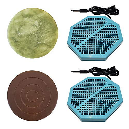 """Cell Spa 2 Pack CS-900 Twice Powerful 6.5"""" x 5.5"""" Ion Detox Foot Bath Arrays With 2"""" Round Jade & 2"""" Round Ceramic Stone Powerful Boost Semi-Conductors of Negative Ions For Detox Machine"""