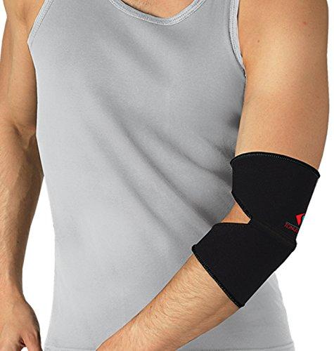 Ellenbogenbandage Neopren Ellenbogen Arm Gelenk Bandage Strumpf Schwarz 6-XXL