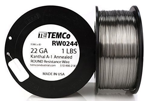 TEMCo Kanthal A1 wire 22 Gauge Resistance AWG A-1 ga