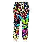 HUKN Nuovo Foglia Colorata Multicolore Pullover 3D colorato Vestito dell'uomo con Cappuccio Completa Stampato Mens Zipper Jacket Set 02226-PA-1 S