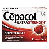 Cepacol 71016 Extra Strength Sore Throat Lozenge, Cherry, 16/Box
