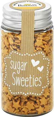 Azúcar Estrellas/Azúcar Estrellas Decoración (2colores/7mm–55G) libre de color a elegir., dorado, 75 Gramm