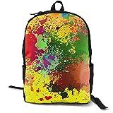 Bordado Dab Color Spray (2) Mochila Libro Portátil Bolsa Multifuncional Ocio Universitario Estudiante Viajes Negocios Hombres Mujeres Juventud