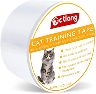 Blnboimrun Anti-Scratch Cat Training Clear Tape,Self-Adhesive Durable Pet Single-Sided Shield Scratch Protector Against Cat and Dog Scratching Carpet,Furniture,Couch,Door