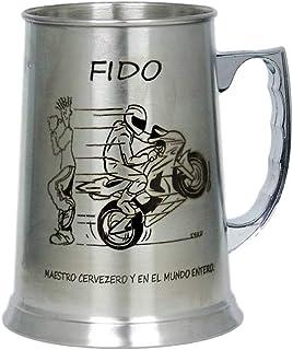 regalo grabado Jarra Cerveza de Acero Personalizada con Dibujo, Nombre, Logo, Escudo, como desee. (Asa a la Izquierda)