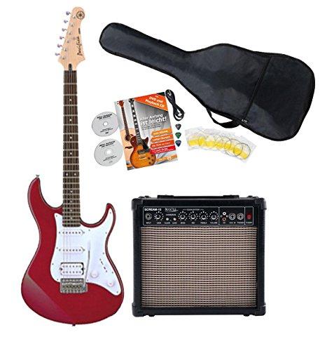 Yamaha Pacifica 012RM E della chitarra Starter Set (con amplificatore di segnale, imbottita e di set) Red Metallic