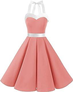 DRESSTELLS dames jurken 50s Vintage elegante avondjurken feestelijke jurken plooirok cocktailjurk
