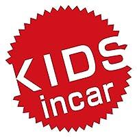 imoninn KIDS in car ステッカー 【シンプル版】 No.39 丸型ロゴ (赤色)