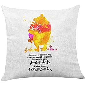 yuzi-n Classic Winnie The Pooh Quote Pillow Covers for Nursery/Home/Kids Room Decor – Winnie The Pooh Gifts for Kids Teens Girls Women – Nursery Watercolor Pillow Covers Home Sofa Decoration