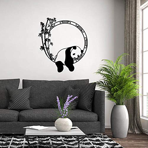 Pegatinas decorativas para pared, diseño de panda, color blanco, 63 x 57 cm, regalo de Navidad
