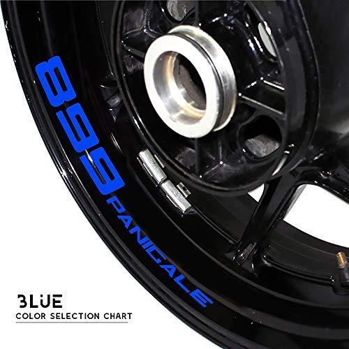 Decoración de la Motocicleta para Ducati 899 Panicale Motorcycle Wheel Sticker Reflective Rim Stripe Tape Motorbike Decal Styling Stick (Color : Reflective Blue)