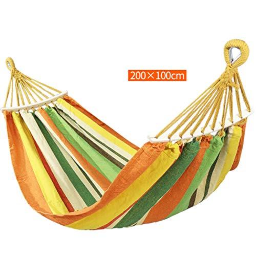 Jiji Double hangmat 200 kg beweegbare hangmat schommelstoel doek hangmat voor achtertuin, veranda, buiten of binnen