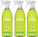 Method All Purpose Natural Surface Cleaning Spray - 28 Oz - Lime Sea Salt - 3 Pk