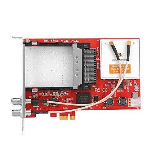 tbs6590scheda PCIe doppio tuner TV universale Muti standard con doppio CI Slot per...