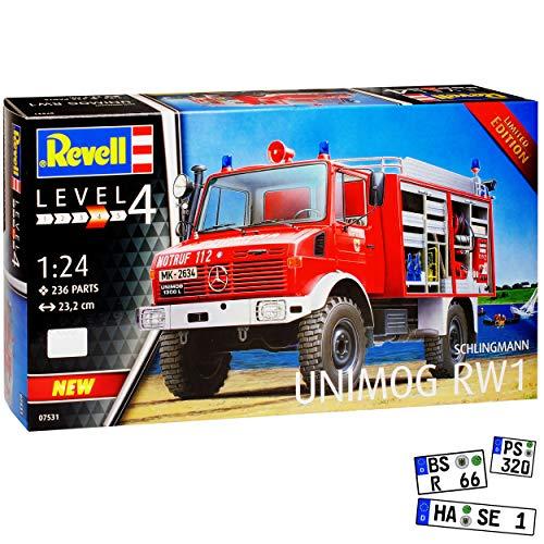 Mercedes-Benz Unimog Schlingmann RW1 Feuerwehr 07531 Bausatz Kit 1/24 Revell Modell Auto