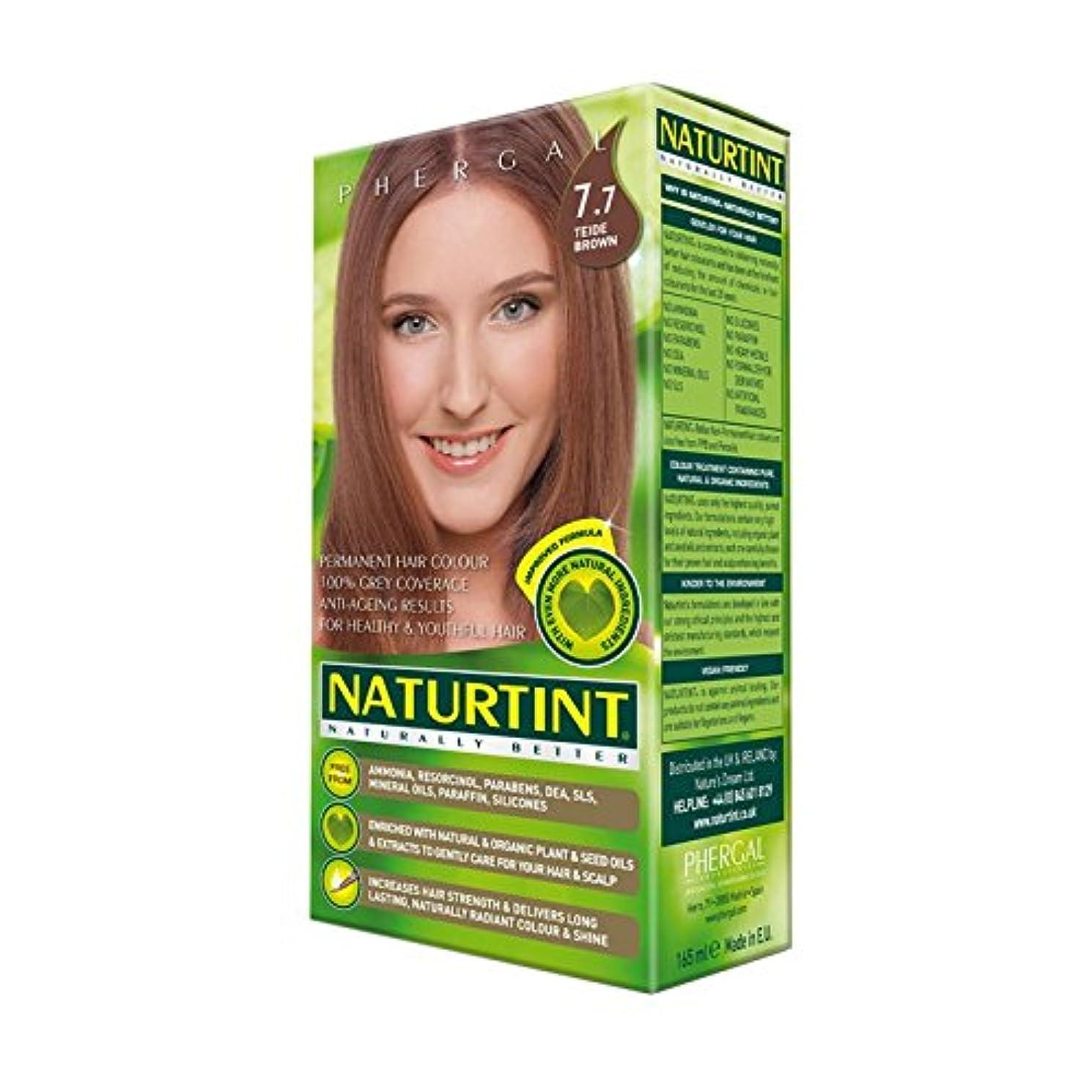 ドレイン繰り返した肘Naturtint Permanent Hair Colour 7.7 Teide Brown (Pack of 6) - Naturtintパーマネントヘアカラー7.7テイデ茶色 (x6) [並行輸入品]
