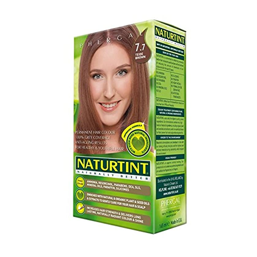 大腿貸す差Naturtint Permanent Hair Colour 7.7 Teide Brown (Pack of 6) - Naturtintパーマネントヘアカラー7.7テイデ茶色 (x6) [並行輸入品]