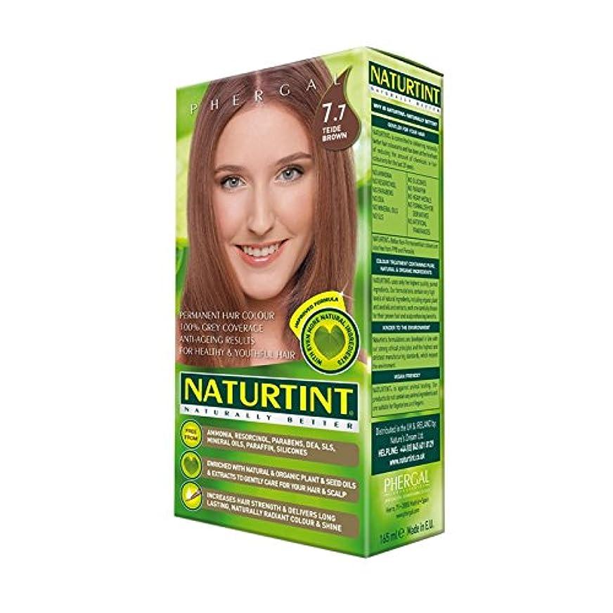 刻むステレオタイプ入場Naturtint Permanent Hair Colour 7.7 Teide Brown (Pack of 6) - Naturtintパーマネントヘアカラー7.7テイデ茶色 (x6) [並行輸入品]