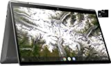 2021 HP X360 2 in 1 Laptop 14' Touch-Screen HD Chromebook, Intel Pentium Silver Quad-Core N5000, 4GB Memory, 64GB eMMC Storage, USB Type C, WiFi, Webcam, Chrome OS, Ceramic White + 32GB TiTac Card