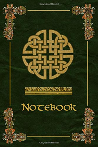 Notebook: Celtic Knot Ornaments Green Journal, Wide Ruled 110 pages (6.14' x 9.21')