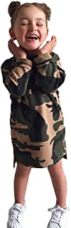 Kimanli Girls Dress Toddler Infant Kid Baby Camouflage Princess Outfit Clothes