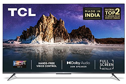 TCL 126 cm (50 inches) AI 4K Ultra HD Certified Android Smart LED TV 50P715 (Silver) (2020 Model)   With Remote Less Voice Control