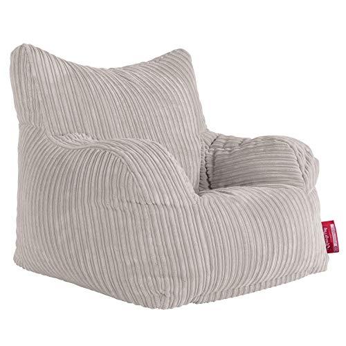 Lounge Pug, Sitzsack Ohrensessel, Cord Creme