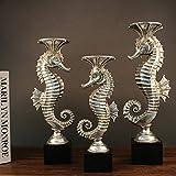 Hclshops Skulptur Galvanik Kreative Hauptdekoration Hippocampus Kerzenständer Wachs Tisch Harz Dekoration Handwerk Geschenk Ornamente