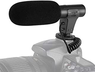 Video Microphone, SAMTIAN Camera Microphone for DSLR Interview Shotgun with Windscreen VideoMic for Sony Canon Nikon Panas...