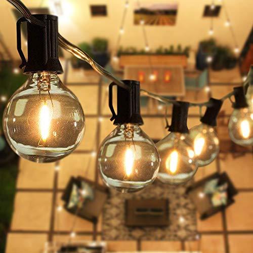 Svater Guirlande Lumineuse Exterieure 7.6 Mètre avec 23 Ampoules,Guirlande Guinguette Extérieur,étanche IP45, E12 Base Pour Patio Jardin Extérieur Lumières de Guirlande,Blanc Chaud