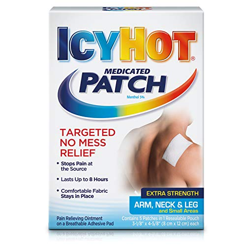 Icy Hot Medicated Patch Extra Strength Pain Relief Patch for Arm, Neck & Leg (15 Pain Patches)