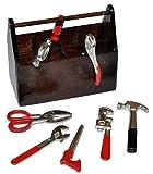 Miniatur 9 tlg. Werkzeugkasten gefüllt mit Werkzeug - für Puppenstube Maßstab 1:12 - für...